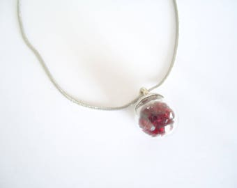 Glass sphere necklace