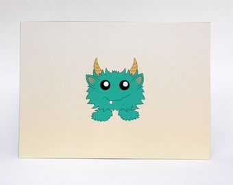 Cute Baby Shower Card -  Funny Baby Shower Card, Monster Card, Monster Baby Card