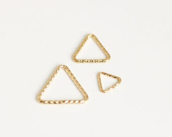 20pcs 14K GF Triangle Sparkle Jump Ring 10mm/7.6mm/5mm Gold filled -made in USA wholesale Jewelry Supply(1525TS/1526TS/1527TS)