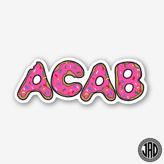 Acab donut die cut sticker from jaddovey on etsy studio