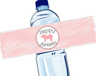 Charlotte's Web Water Bottle Labels - Print At Home! Charlotte's Web Birthday Printable Water Bottle Labels (4 designs)