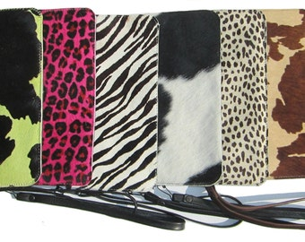 ONE print of your choice print fur wristlet