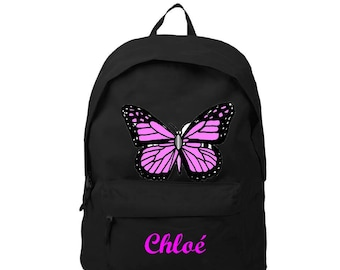bag has black back Butterfly personalized with name
