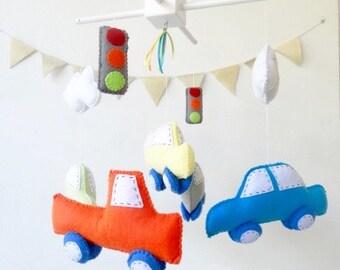 Baby Crib Mobile - Baby Mobile - Transportation Mobile - Car, Truck, Bus - Transportation Nursery Mobile - Cars mobile - Car baby mobile