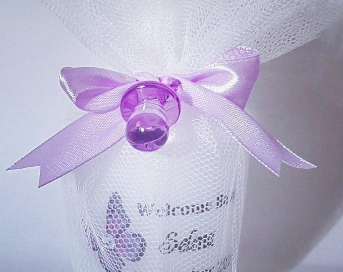 Personalised welcome baby shower  candle gift favours