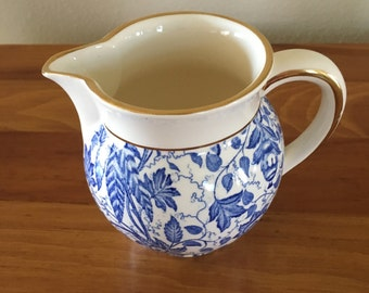 Vintage Blue and white Pitcher by Waechtersbach in West Germany