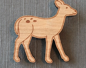 Deer Pin - woodland brooch stocking stuffer
