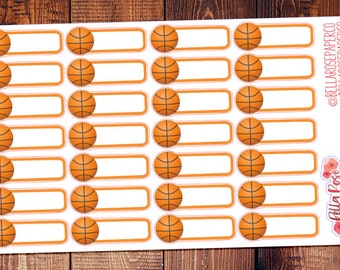 Basketball Game Planner Stickers, Basketball Stickers, for use in Erin Condren Planners, Happy Planner Stickers B032