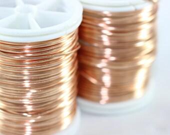 Artistic Copper Wire 18,20,22 or 28 Gauge, Craft Wire, Dead soft wire, Non Tarnish Copper Wire, 16/28/60/155 Feet Artisan Wires, WRRI
