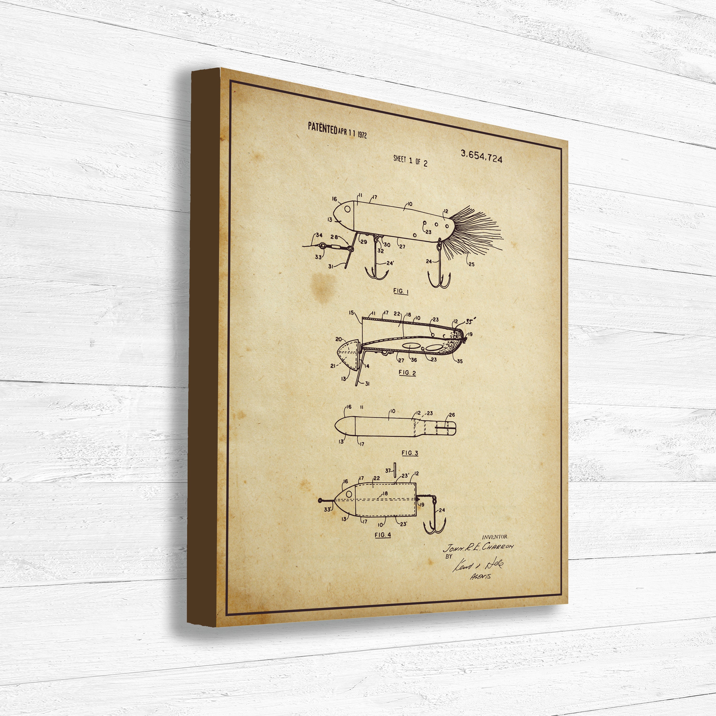 Fishing Lure, Patent, Fishing, Old Patent, Invention, Vintage Patent ...