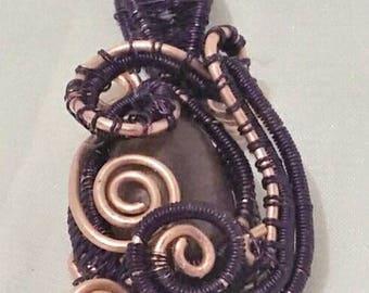 Amethyst & Copper Coils