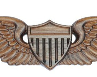 Army Pilot Wooden Wings