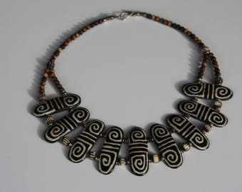 Bone choker necklace from India (only 1 available)