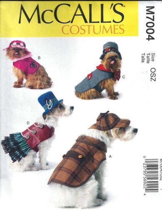 DOG CLOTHES PATTERN / Make Sherlock Holmes Steampunk Outfits