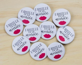 10 badges wedding bride's family