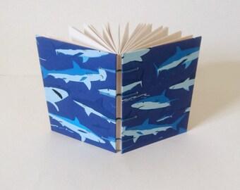 Shark Pattern A6 Coptic Sketchbook