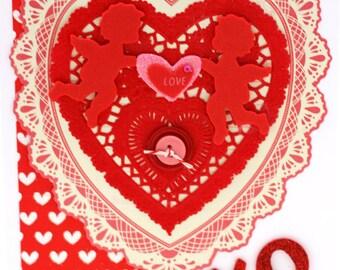 Shabby Vintage Style Valentine Heart Card