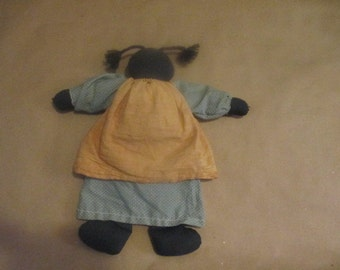 Black Americana Rag Doll, Black Doll, Folk Art Doll,