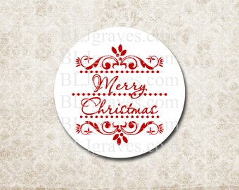 Christmas Stickers Envelope Seals Holiday Party Favor Treat Bag Stickers CS018