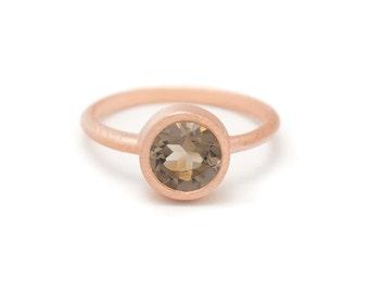 Smoky Quartz in Rose Gold Gemstone Ring - Rose Gold Ring - Gemstone Ring - Sizes 4.5, 5, 5.5, 6, 6.5, 7, 7.5, 8, 8.5, 9, 9.5 and 10