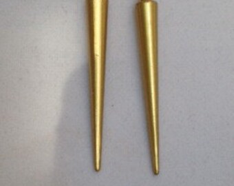 Gold Spike Earrings, Silver Spike Earrings, Spike Earrings