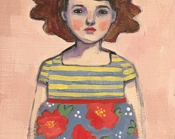 Oil painting portrait - Alicia - Original art, fine art oil painting, original painting, original art, figure portrait