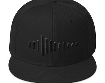 Embroidered Hat   Snapback Hat   Sound Wave   Snapback   Hat