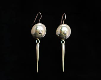 OTHO earrings II : modern brass earrings