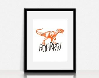 T-Rex Dinosaur Roarrr! - Graphics Wall Art - Digital Instant Download