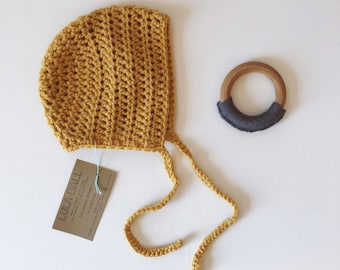 The Sammy Bonnet // Sungold // Size 0-3 Months // Ready to Ship