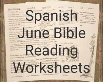 SPANISH Ejercicio para niños JW para Lectura de la Biblia de Junio en ESPANOL