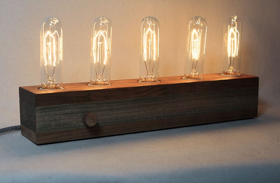 Wooden edison lamp desk lamp table lamp edison bulb fabric like this item keyboard keysfo Images