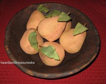 Primitive Pear Bowl Filler ~ Ornies Lightly Scented Set of 6