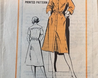 Prominent Designer Willi of California M154 size 14, vintage pattern, 70s pattern, shirt dress pattern, sewing patterns