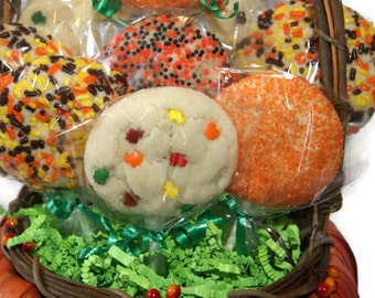 Thanksgiving Cookie Pops - Fall Sugar Cookies, Party favors, One dozen, Made to order, Homemade, Thanksgiving, edible gift, Autumn Dessert