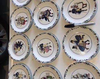 Adorable Swedish dishes.  Svenska Landskapsdraker Swedish National Costumes #1081