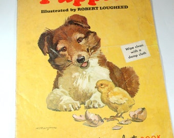 Puppies, Duroplast Children's Book, Wipe Clean, Illustrated by Robert Lougheed (501-12)