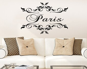 Wall Decal Paris City Vinyl Sticker Decals Art Decor Design France Country Europe Lettering Living Room Bedroom Dorm NS925