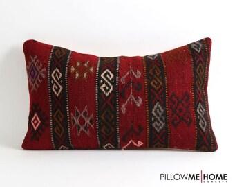 Red kilim pillow cover, moroccan, boho pillow, floor rug, cushion, handmade kilim, pillow cover, throw pillows, kilim pillow cover, wool