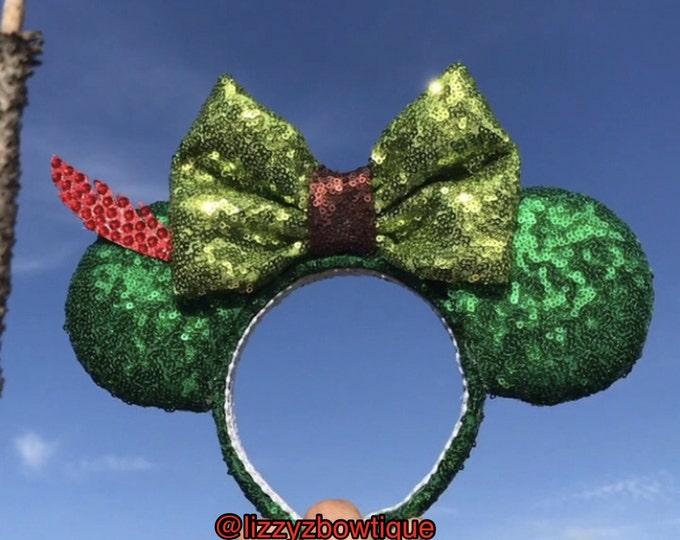Peter Pan Never Grow Up Sequin Minnie ears