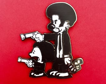 Calvin and Hobbes Pulp Fiction Pin