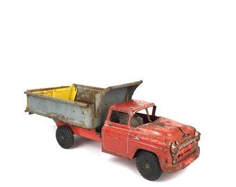 Vintage Louis Marx Dump Truck Toy Old Metal Dump Truck Toy Vintage Louis Marx Heavy Duty Hydraulic Dump Truck Mid Century Lumar Toys