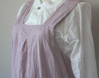 Linen bag cloth apron pink linen 100% [MY BEST APRON]