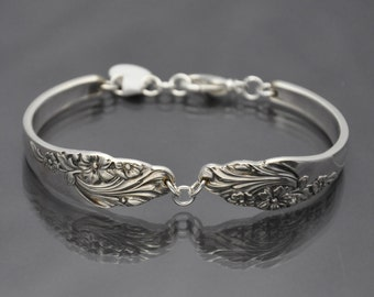 Bracelet made from Antique Vintage Silverware with Pattern 1950-1961 Evening Star