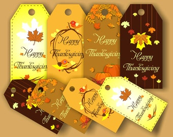 Thanksgiving Tags Thanksgiving Thank you tags Digital Party Supplies 4 Designs Tags image Thanksgiving Thanks tags Fall Thank you tags Thank