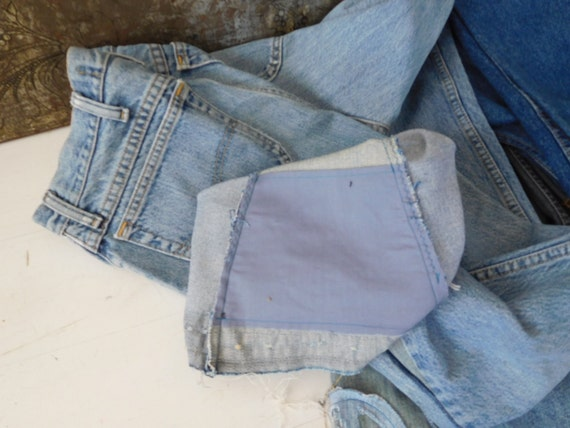 Grunge Hippie Patch Secret Mens Stash 34 Peace USA Pants Bell Pocket Menswear Bohemian Ditty Bottom Sign OOAK SALE Upcycled Boyfriend Jeans qwxqHn4p1