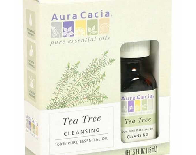 Aura Cacia Tea Tree Essential Oil (BOXED) 0.5 FL. OZ.