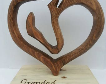 Unique reclaimed wood Horse Home Decor.  Equestrian, horse lover gift.  Wooden horse art. Wooden horse in heart
