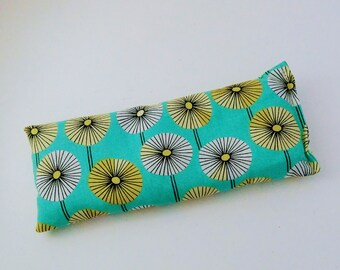 Organic Cotton Eye Pillow  - Yoga pillow - Yoga eye pillow - unscented or with lavender - GOTS organic cotton - dandelion print