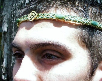 Lord of the Isles Celtic Irish Circlet with Jade